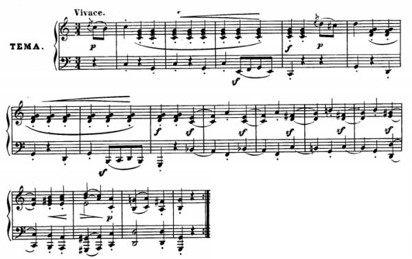 Diabelli variations - Thema