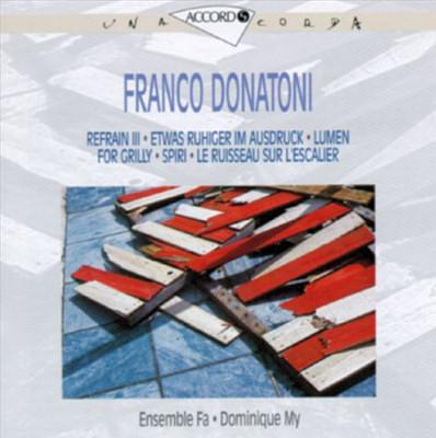 Franco Donatoni - Ensemble Fa - Dominique My