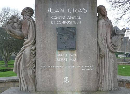 Monument en hommage à Jean Cras - Brest - Cours d'Ajot