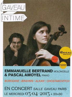 Emmanuelle Bertrand - Pascal Amoyel - Concert à Gaveau