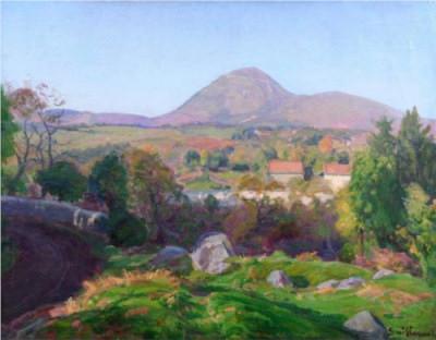 """Armand Guillaumin - """"Paysage du Puy de Dôme"""""""