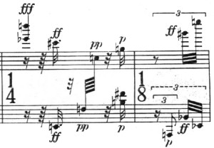 Klavierstück 1 - Groupe 12 - Mesure 14