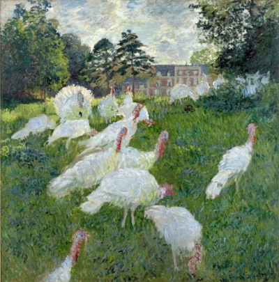 Monet - Dindes blanches
