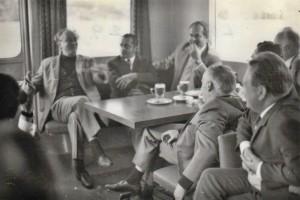Kubelik sur le bateau du Lac de Lucerne, Vaclav Neumann en face de lui